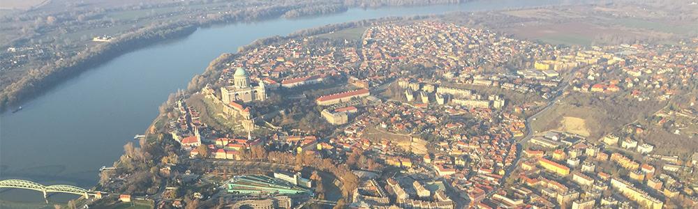 Sétarepülés Esztergom felett