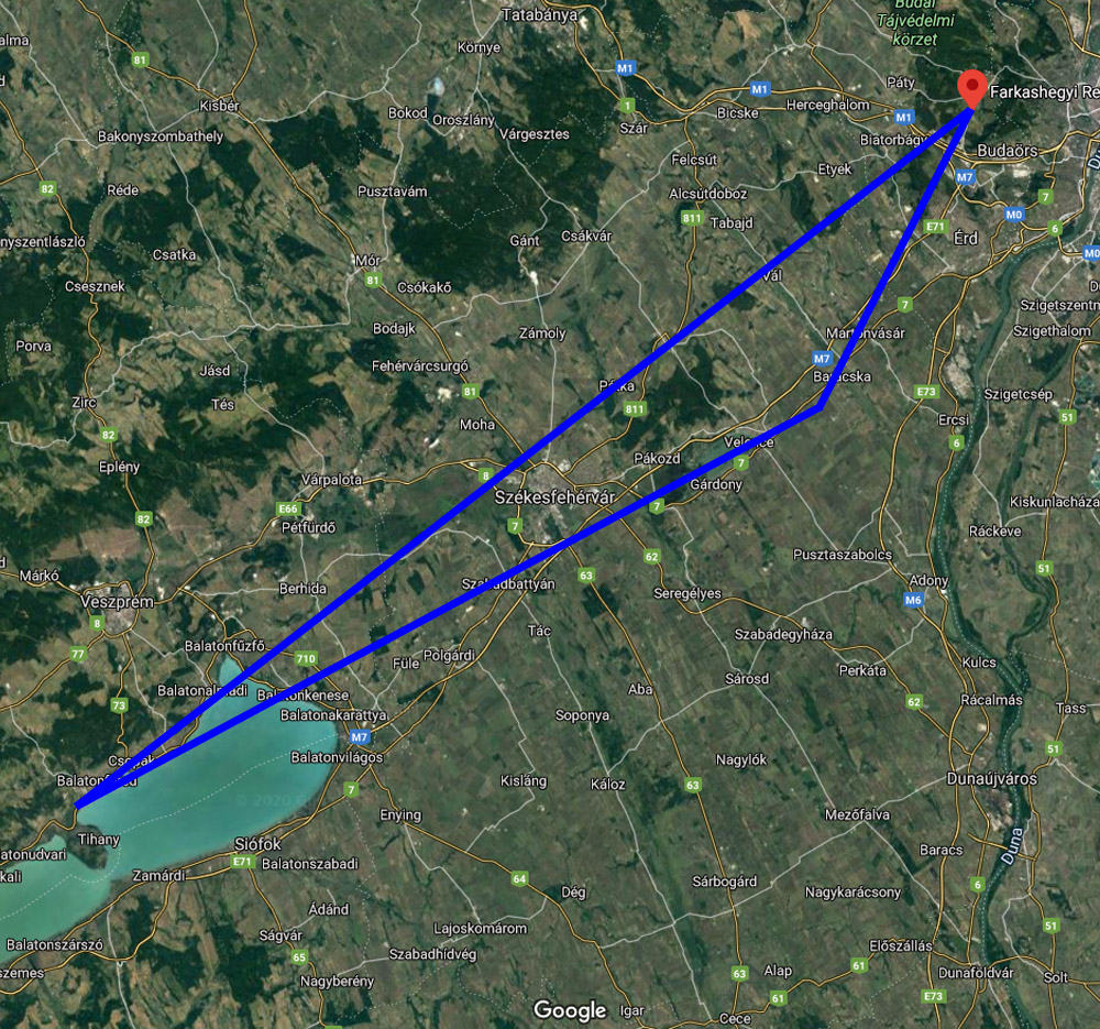 Balatoni panoráma sétarepülés térkép