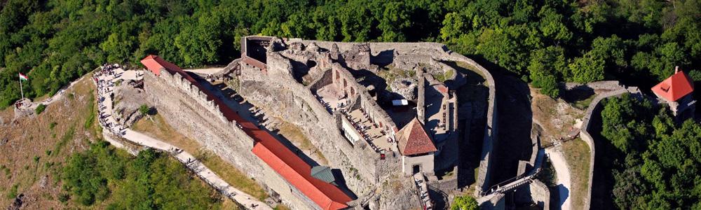 Dunakanyar sétarepülés Visegrád felett