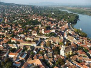 Dunakanyar sétarepülés Szentendre fölött