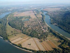 Dunakanyar sétarepülés Szentendrei sziget fölött